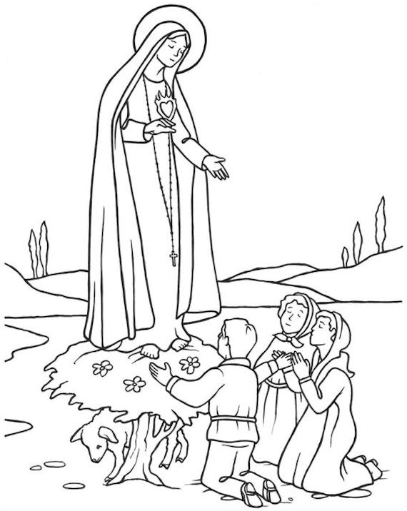 Salut, ô Mère du Seigneur, Vierge Marie, Reine du Rosaire de Fatima !