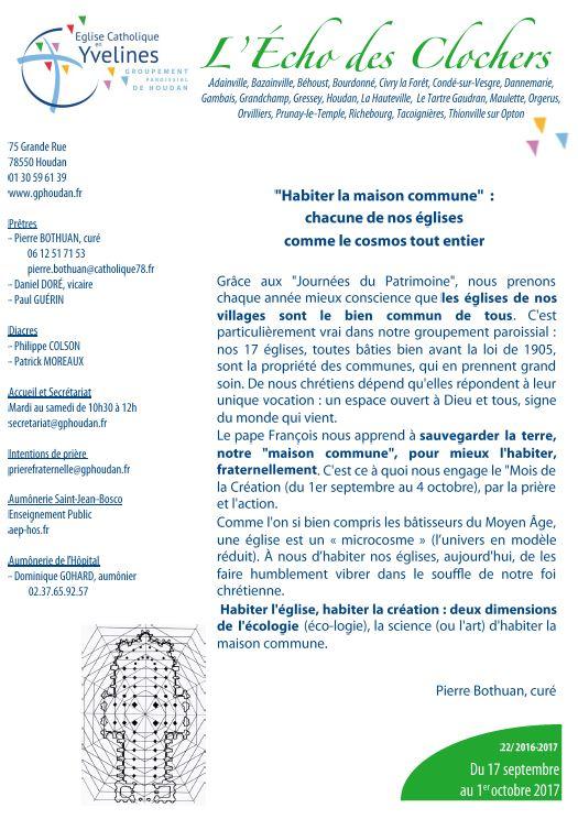 «Habiter la maison commune» – Écho des Clochers n°22