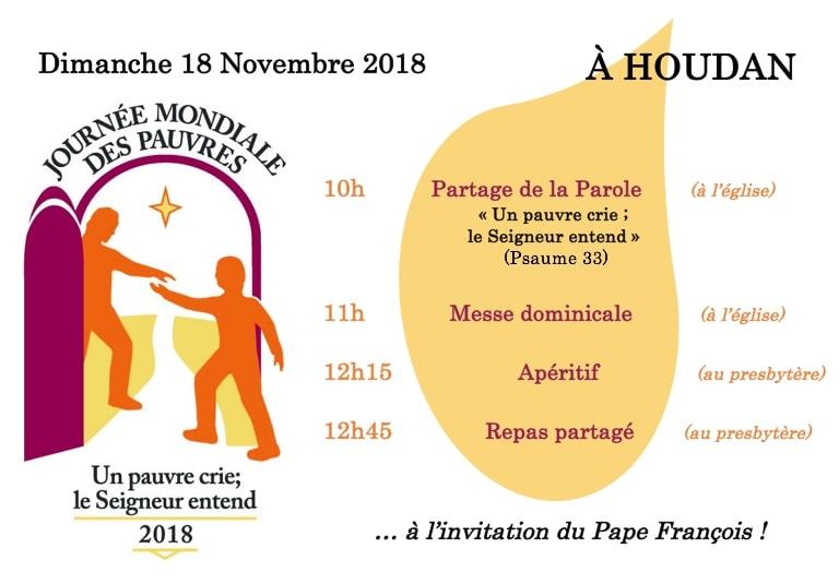 18 novembre : Journée Mondiale des pauvres