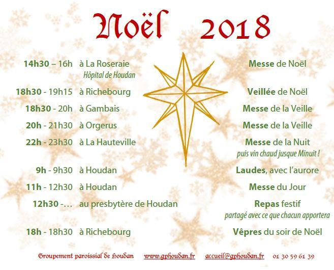 Célébrations du temps de Noël 2018