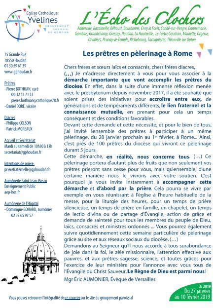 Les prêtres en pèlerinage à Rome