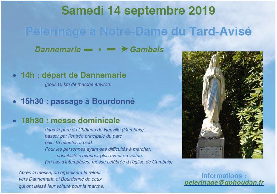 Pèlerinage à Notre-Dame du Tard-Avisé, le 14 septembre