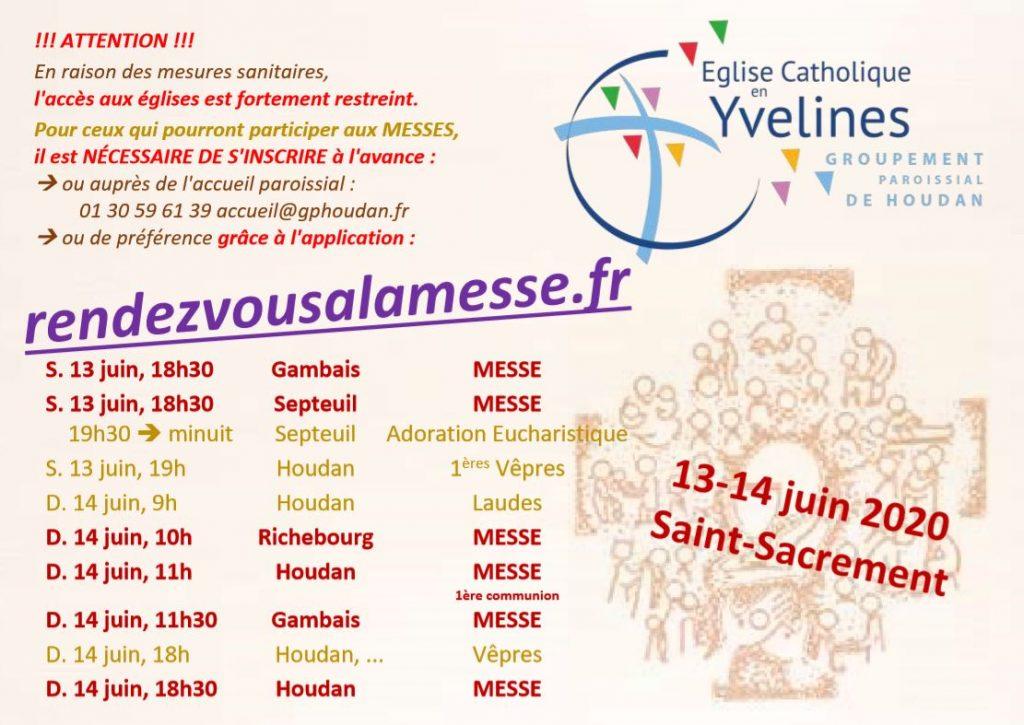 13 – 14 juin : Saint-Sacrement