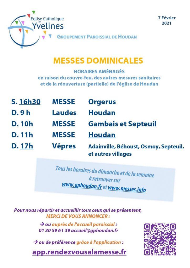 Messe dominicales : horaires aménagés