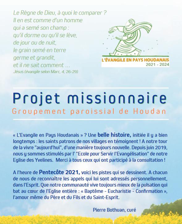 Projet Missionnaire 2021 – 2024