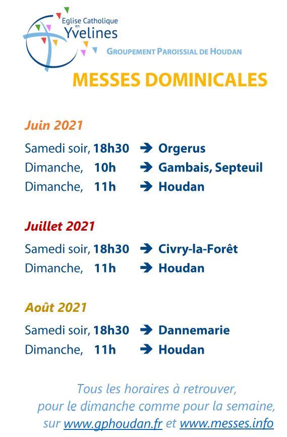 Messes dominicales – été 2021
